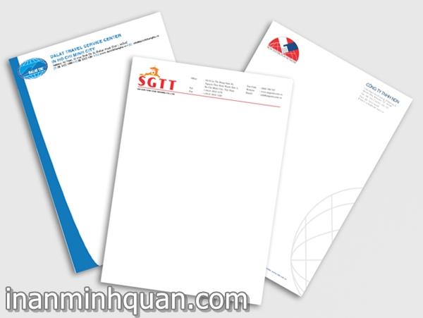 In giấy tiêu đề Letter Head chất lượng cao nhanh chóng giá cạnh tranh tại TP.HCM 2014 phần 2