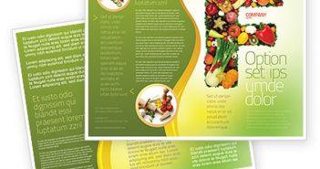 Thiết kế Brochure thực phẩm chuyên nghiệp hiện đại dành cho doanh nghiệp tại TP. HCM 2014 - 2015